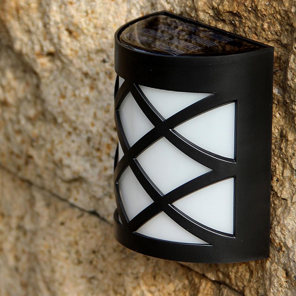 Lámpara Solar Retro para jardín, candelabro de pared para exterior, lámpara inalámbrica impermeable para casa, puerta delantera, valla para Patio exterior