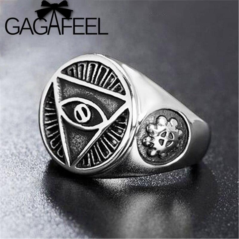 GAGAFEEL египетское кольцо для открытия глаз мудрости модные регулируемые кольца для мужчин тайские серебряные Винтажные Ювелирные изделия му...