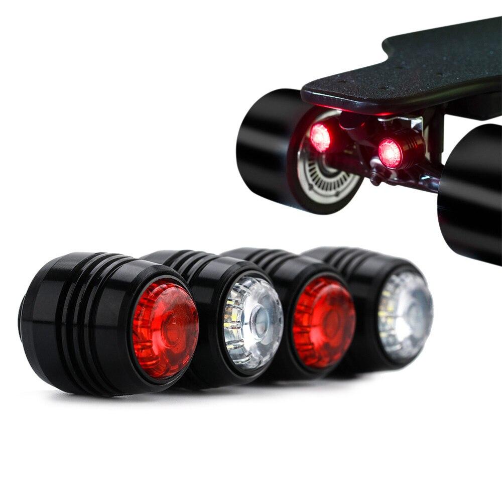 Koowheel 4Pcs Skateboard LED Lights Night Warning Safety Lights for 4 Wheels Skateboard Longboard Bike Light Bicycle Accessories