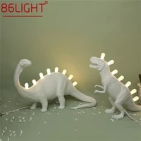 86light table lamps led resin contemporary creative cartoon dinosaur decoration desk light for home
