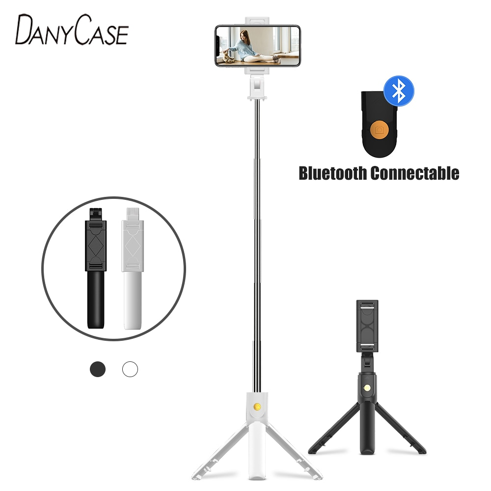 3 in 1 Wireless Bluetooth Selfie Stick Foldable Mini Tripod Expandable Monopod With Smart Remote Control For iPhone IOS Android