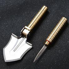 3 en 1 pelle pliante couteau de poche multifonctionnel boussole outil de survie en plein air pour le Camping de jardin
