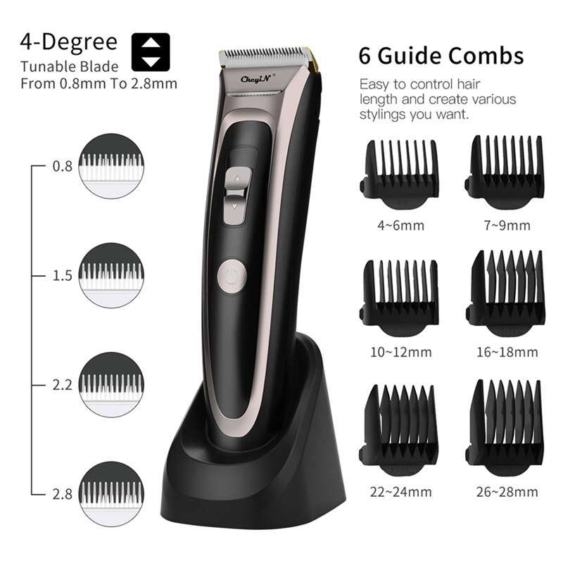 Professional Hair Clipper Men Barber Beard Trimmer Ceramic Blade LED Rechargeable Cutting Machine Low Noise Adult Kid Haircut 50 enlarge