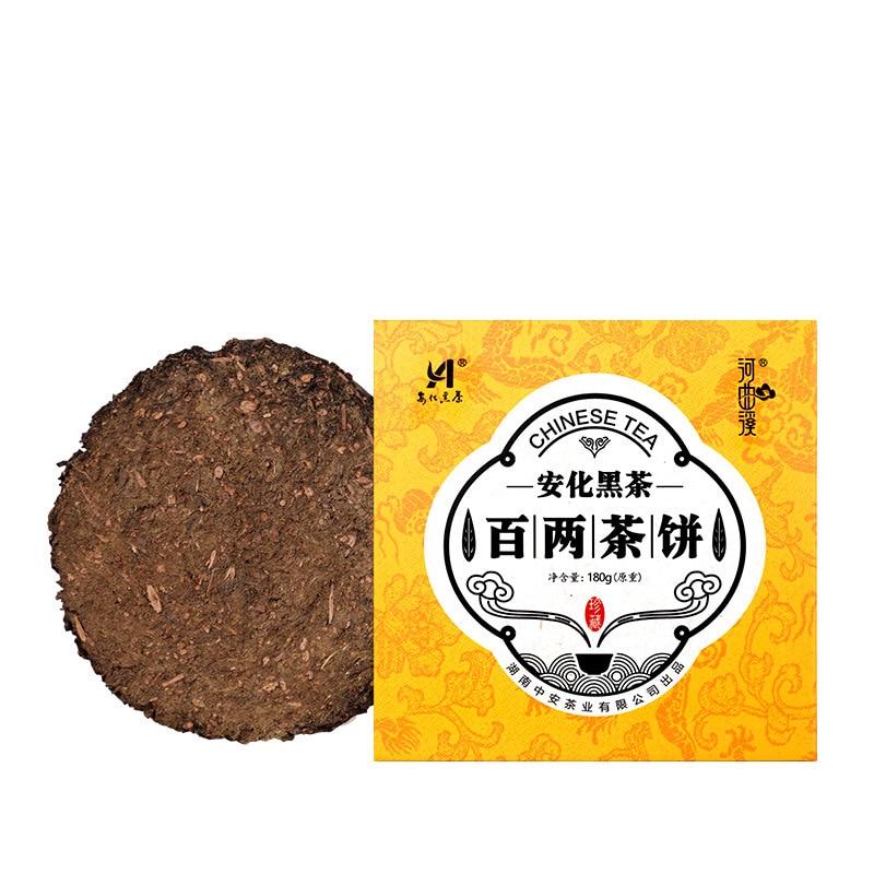 2016 Hunan,China Anhua Bailiangchabing cientos de Taels té oscuro 180g pastel de té para la celulitis promover la digestión exquisita en caja