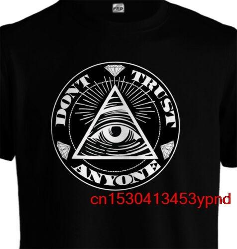 No confío en nadie DTA negro T camisa Illuminati 2pAC tupac F todos urbano Hip Hop Camiseta Hombre camiseta