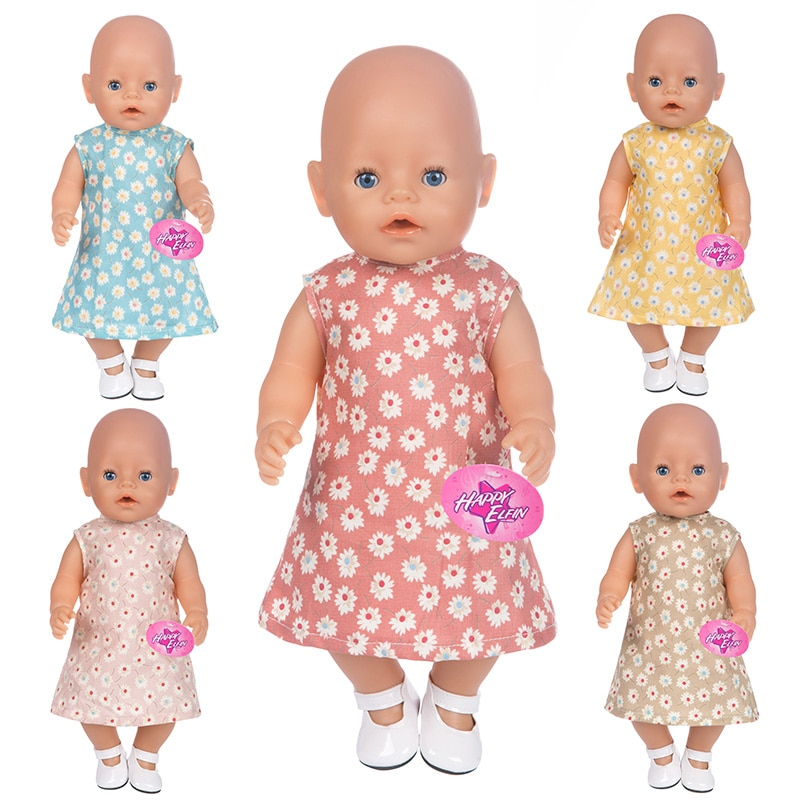 Baby New Born Fit 18 inch 43cm American OG Girl Doll Clothes Accessories Solid Colors and Matching F