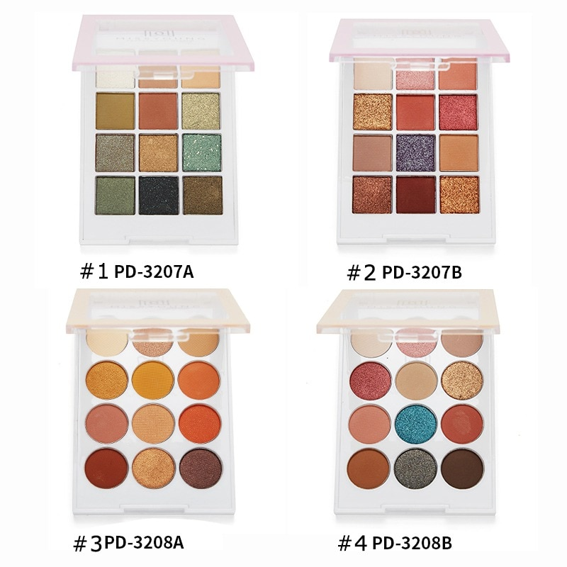 12-color Eyeshadow Palette Long-lasting Waterproof Smudge-proof Shimmer Matte Eye Shadow