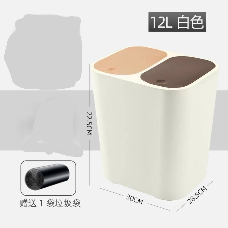 Modern Bedroom Trash Bin Large Plastic Kitchen Toilet Bin Home Trash Can Living Room with Lib Cubo Basura Waste Bin DJ60LT enlarge