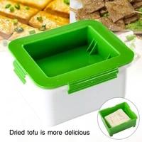 tofu press drainer 3 layer tofu press built in drainage water removing tool dishwasher safe kitchen cooking tools set