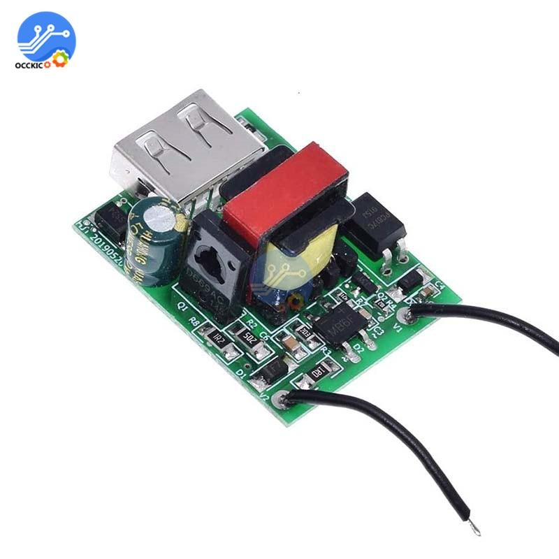 DC-DC USB 12V 24V 36V 48V 72V a 5V 1A Módulo de cargador reductor fuente de alimentación aislada convertidor Buck estabilizador carga USB