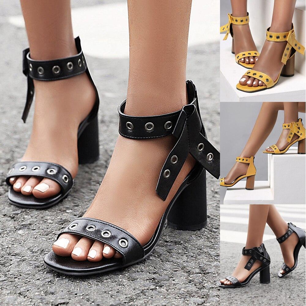 Asconture sapatos femininos de verão cinta de tornozelo do falso plutônio plataforma de madeira chunky calcanhar sandália 2020 senhoras sapatos de cor sólida