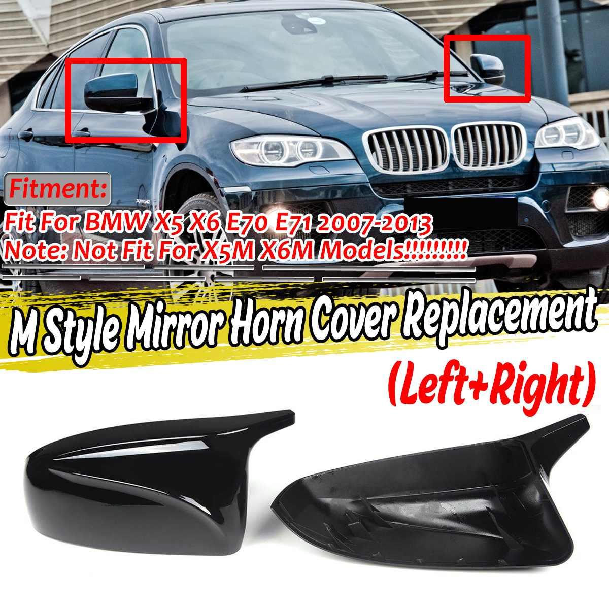 ¡Nuevo! 2 uds X5 cubierta de espejo retrovisor para BMW X5 X6 E70 E71 2007-2013