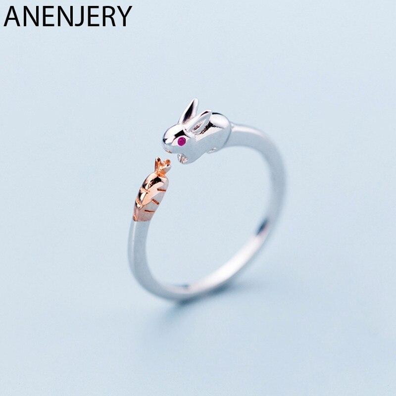Женское-кольцо-с-кроликом-и-морковкой-из-серебра-925-пробы