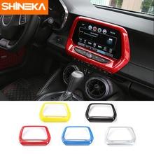 SHINEKA ABS 5 Colori GPS di Navigazione del Pannello di Copertura Media Cornice Dello Schermo da 8.0 pollici 6th Gen per Chevrolet Camaro 2017 + car Styling