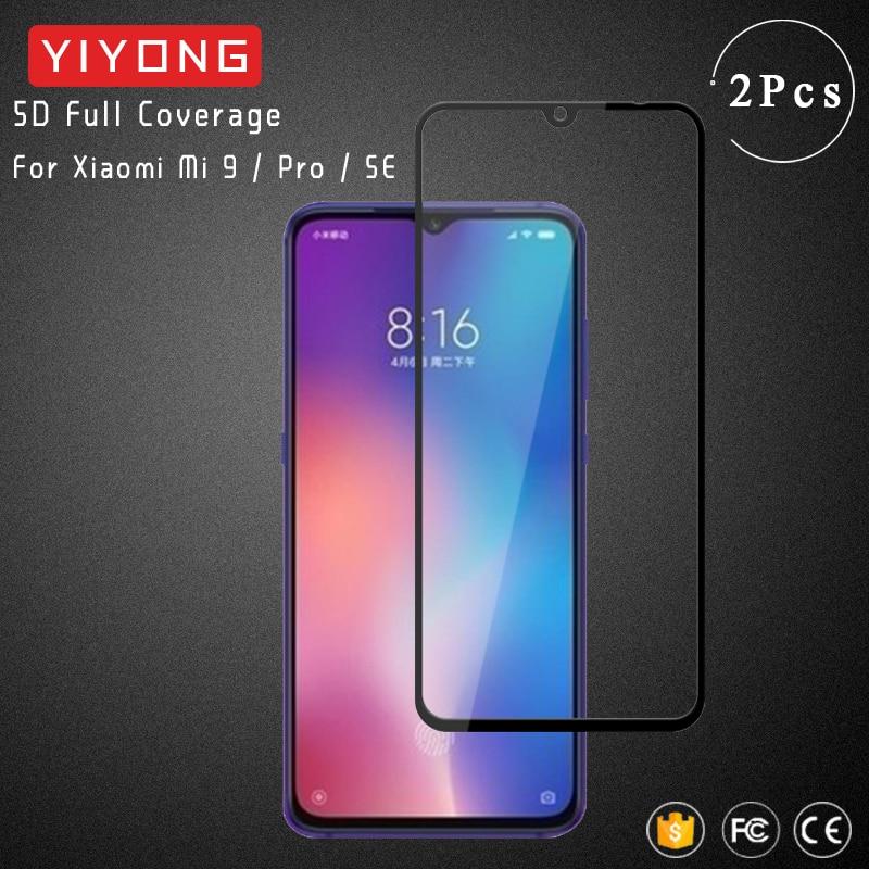Cristal de cubierta completa YIYONG 5D para Xiaomi Mi9 Lite cristal templado Xiomi Mi 9 SE Mi9T Pro Protector de pantalla para Xiaomi Mi10 Lite CC9 E