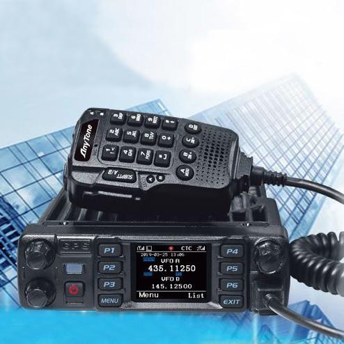 Радиостанция Anytone AT-D578UVIIIPRO DMR, аналоговая радиостанция 50 Вт, УКВ, ДМВ, gps, APRS, Bluetooth, рация DMR, автомобильный радиокоммуникатор