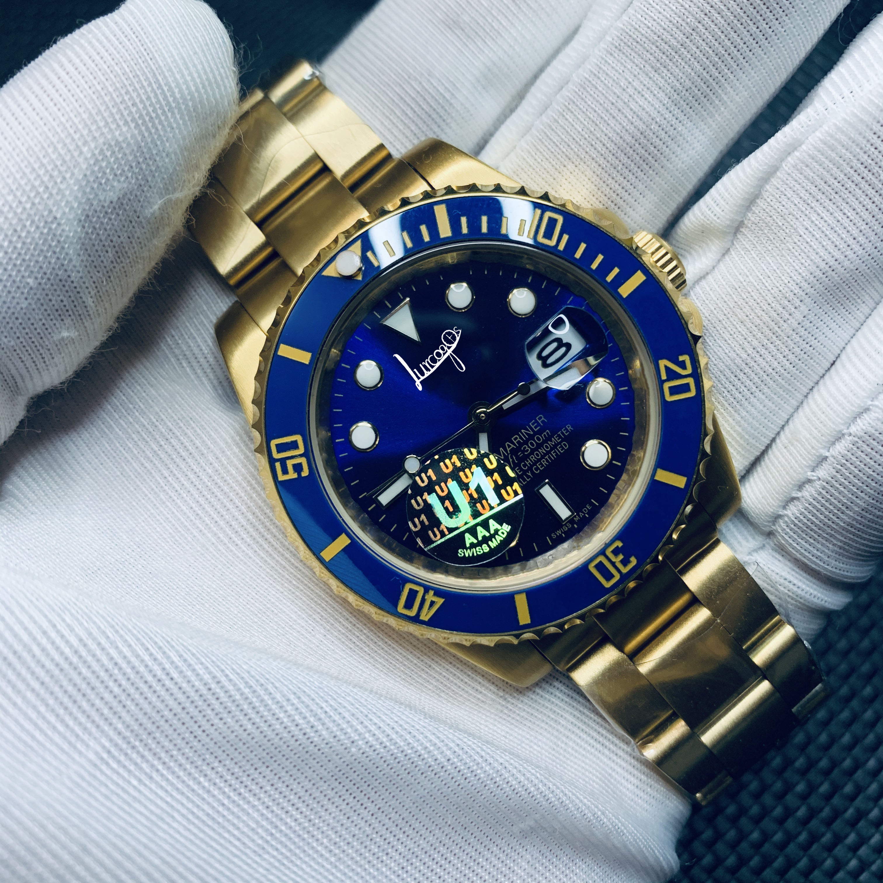 Luxury Watch AAA Men's Watch Green Bezel Waterproof Automatic Mechanical Watch Stainless Steel Sapphire Crystal Automatic Watch