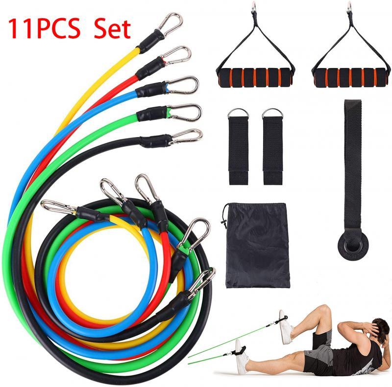 Juego de banda de resistencia, cuerda para hacer ejercicio, deportes, yoga, tirar de la correa, kit de tubo de resistencia, cuerda elástica, ejercicio de entrenamiento, 150 lbs