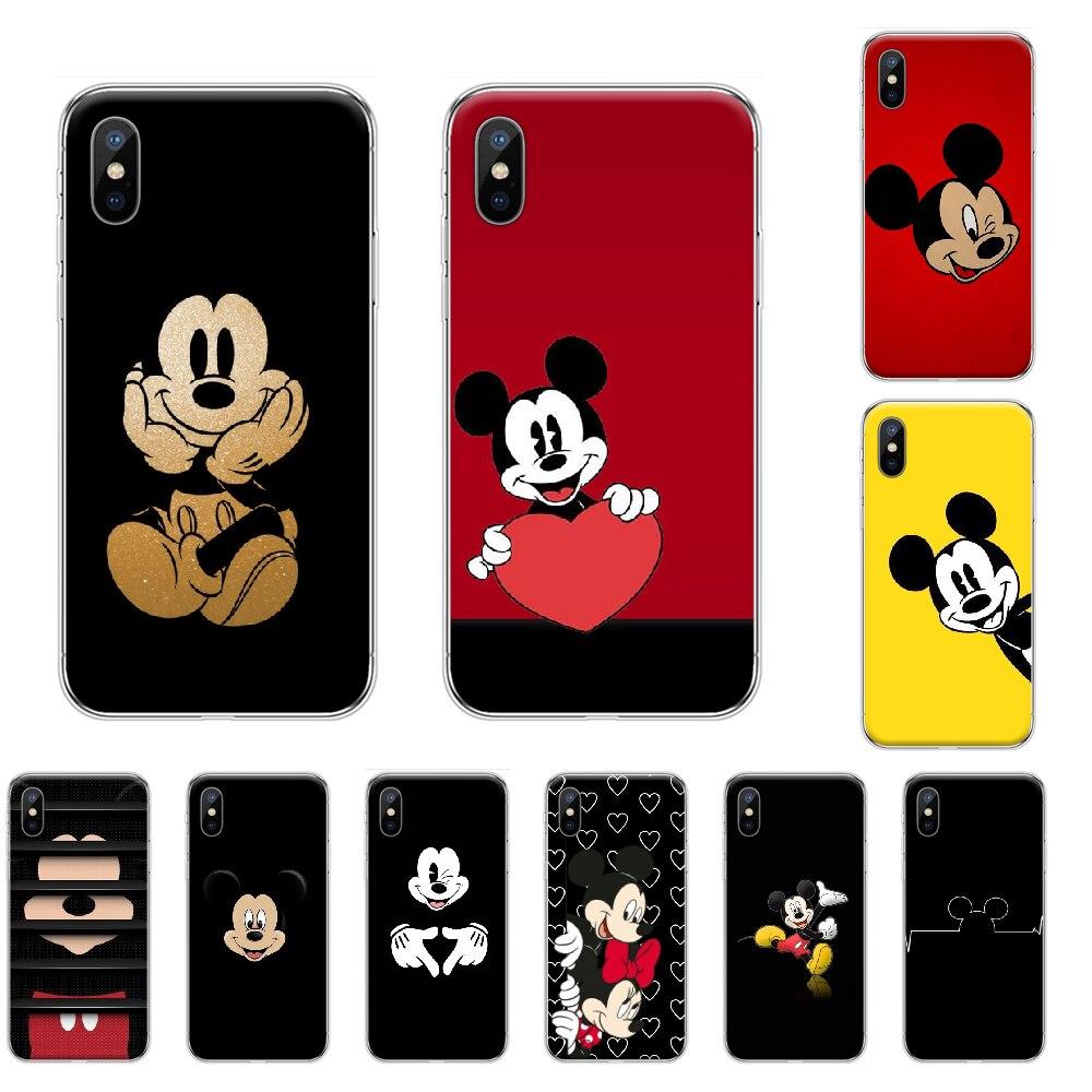 Dibujo animado Mickey Mouse adorable foto personalizada suave teléfono funda para iPhone 4 4s 5 5S SE 5C 6 6S 7 8 plus X XS XR 11 PRO MAX