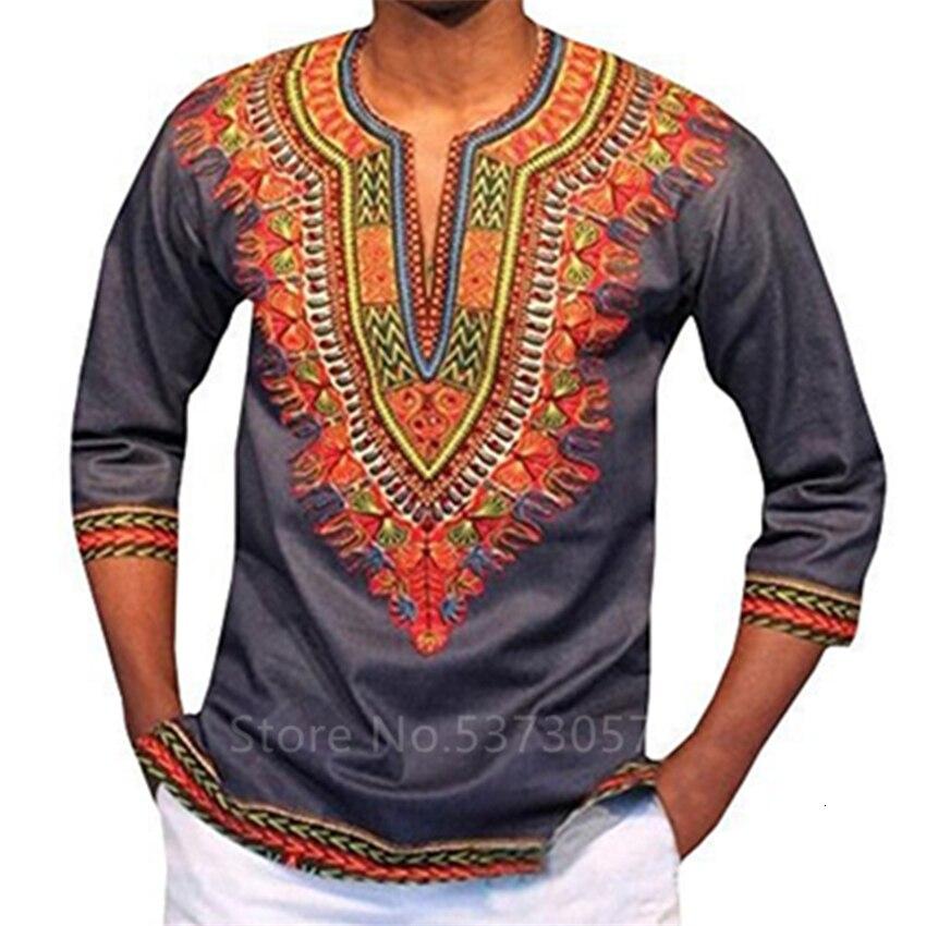 2019 nuevos vestidos africanos para hombres estampado rico Bazin Tops Dashiki Ankara vestido tradicional ropa de manga larga S-3XL