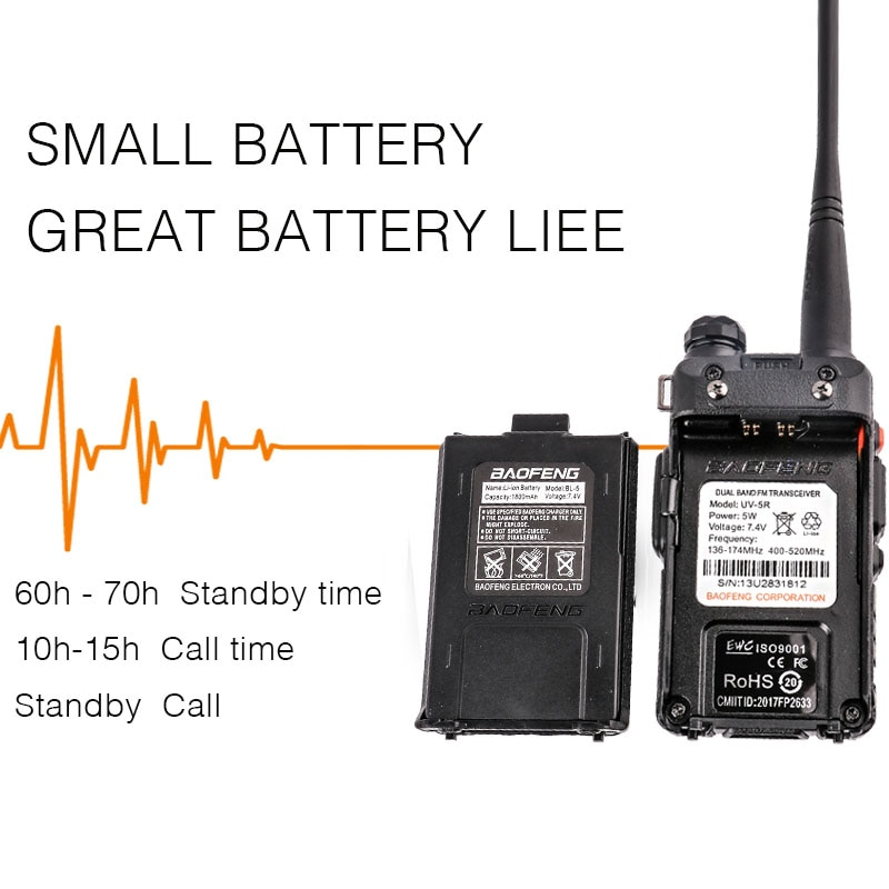 Ptt Uv5r Baofeng Uv 5r with Headset Uhf Vhf Marine Cb Radios Communication Hf Transceiver Portable Two Way 2 Pcs Walkie-talkie enlarge