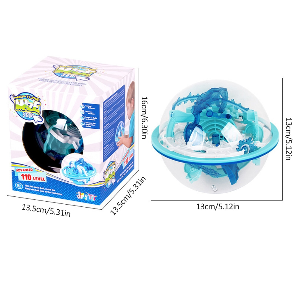 Smart Maze Ball 3D IQ Balance High-order 110 Levels Challenge Edition Magical Intelligence Labyrinth Ball Toys For Children  - buy with discount