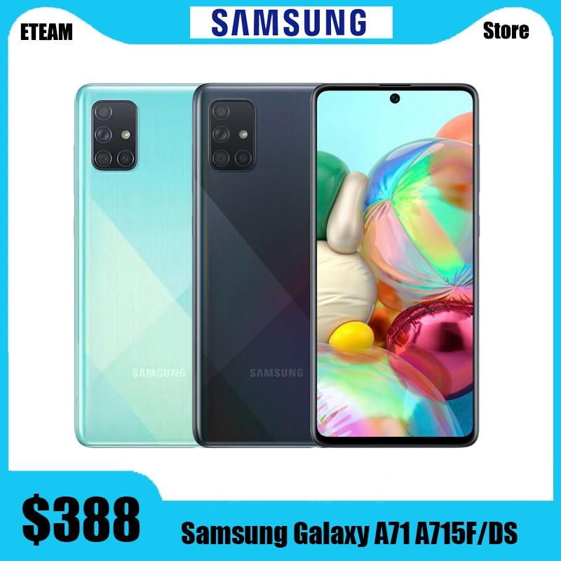 Глобальная версия Samsung Galaxy A71 A715F/DS мобильный телефон, 8 ГБ ОЗУ 128 Гб ПЗУ, Восьмиядерный, экран 6,7 дюйма 1080x2400, 4500 мАч, NFC, поддержка двух SIM-карт, на...