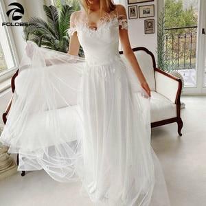 2021 Latest Wedding Dresses Feathers Off Shoulder Sweetheart Lace 3D-Flowers Pearls A-Line Tulle Bridal Gowsn vestidos de novia