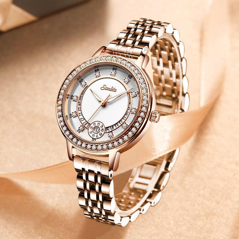 SUNKTA Fashion Watches For Women's Brands Luxury Women Watches Gifts Clock Ladies Quartz Watch Luxury Wrist Watch Zegarek Damski enlarge