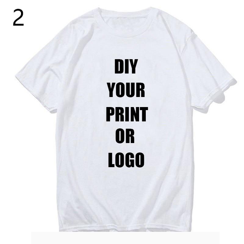 Your OWN Design Brand Logo/Picture White Black Gray Custom tshirt Men and women harajuku t-shirt Plus Size T Shirt Men Clothing