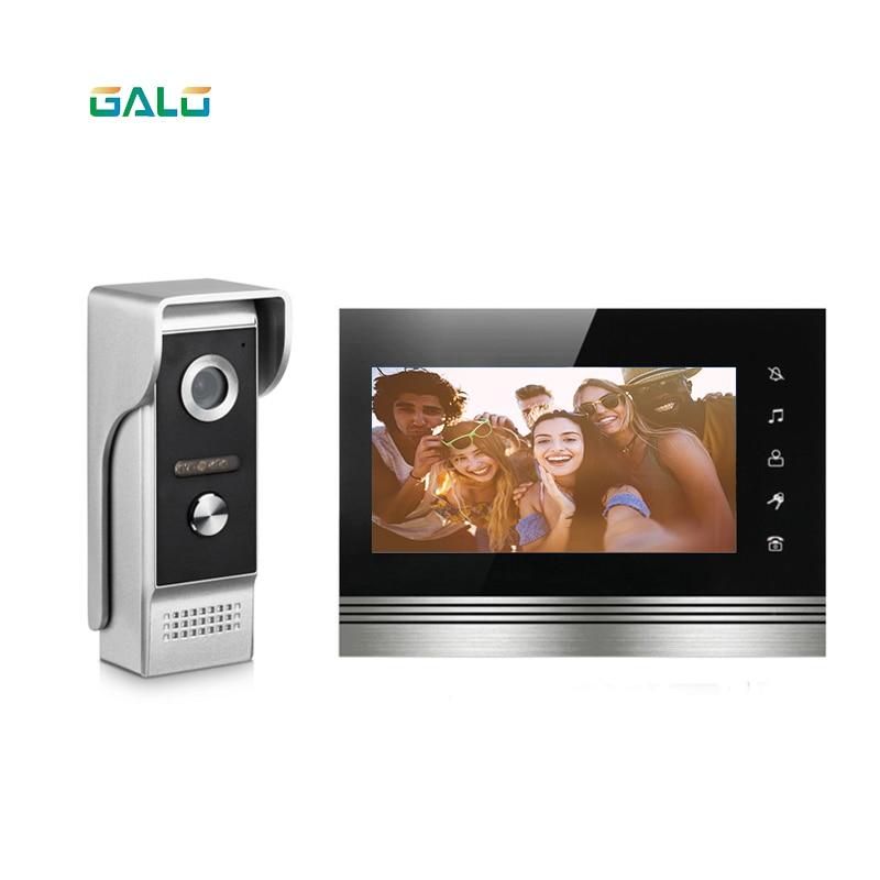 New 7 inch Video Doorbell Monitor Intercom With 960TVL Outdoor Camera IP65 Door Phone Intercom System