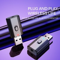 4 в 1 USB Bluetooth адаптер RX + TX аудио приемник передатчик USB 3,5 мм беспроводной Bluetooth-ключ для компьютера наушников для телевизора