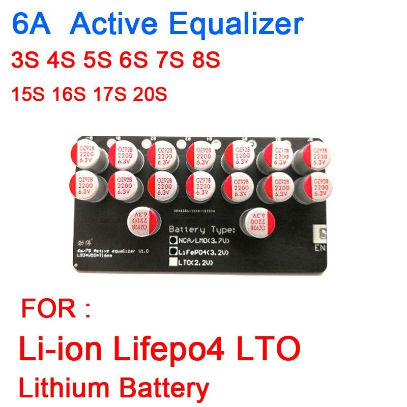3S 4S 5S 6S 7S 8S 15S 16S 17S 20S ecualizador activo balanceador Lifepo4 Li-Ion LTO batería de litio Placa de equilibrio de transferencia de energía