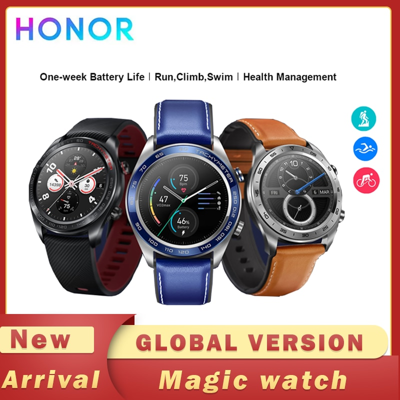 Honor Watch Magic Smartwatch Global Version GPS WaterProof Heart Rate Tracker Sleep Tracker Working 7 Days Message Remind