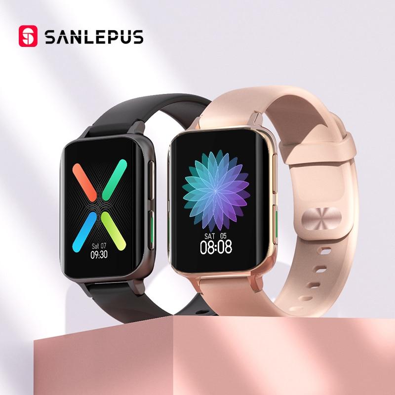 SANLEPUS 2021 جديد إجراء المكالمات ساعة ذكية الرجال النساء مقاوم للماء Smartwatch مشغل MP3 ل ممن لهم أندرويد أبل شاومي هواوي