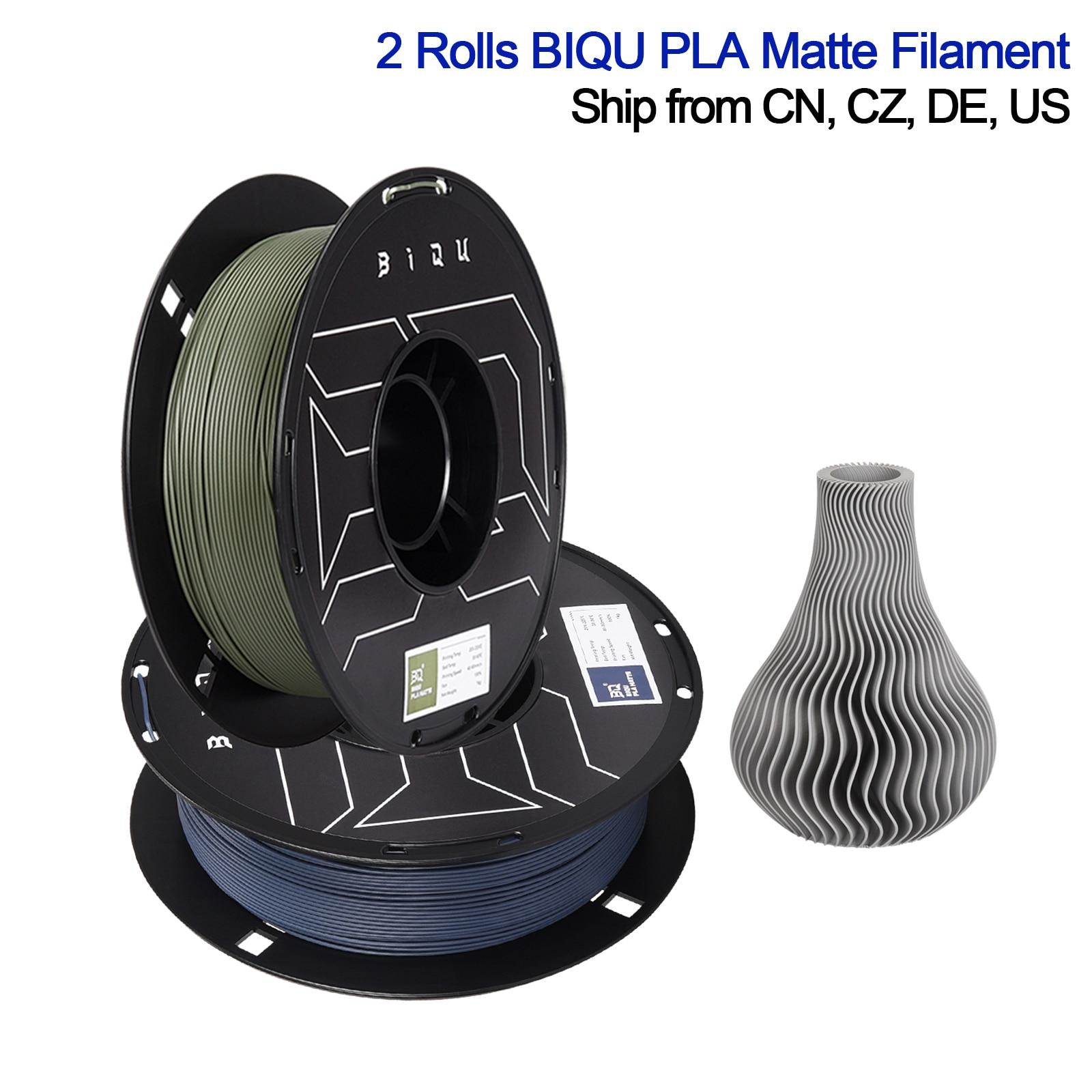 BIQU Matte Filament Review Navy Blue & Olive Green