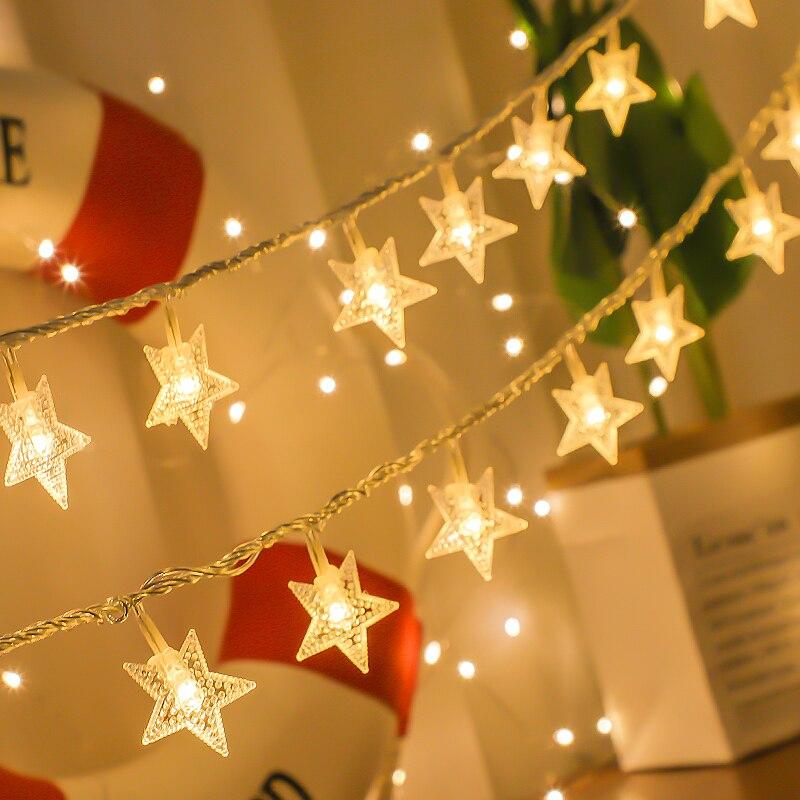 Guirlande lumineuse Led féerique de mariage 1.5-5M   Guirlande lumineuse détoile, rideau de fenêtre, décoration intérieure, éclairage de fête danniversaire