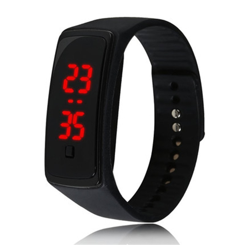 New Brand Silicone Sports  Boy Girl LED Digital Quartz Watch Men Women Fashion Wristwatches Clock Re