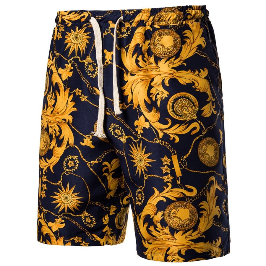 2021 Гавайи летние шорты мужские кольца в виде пятиконечной штаны модные Молодежные тонкие повседневные Прямые пляжные штаны разноцветный Р...