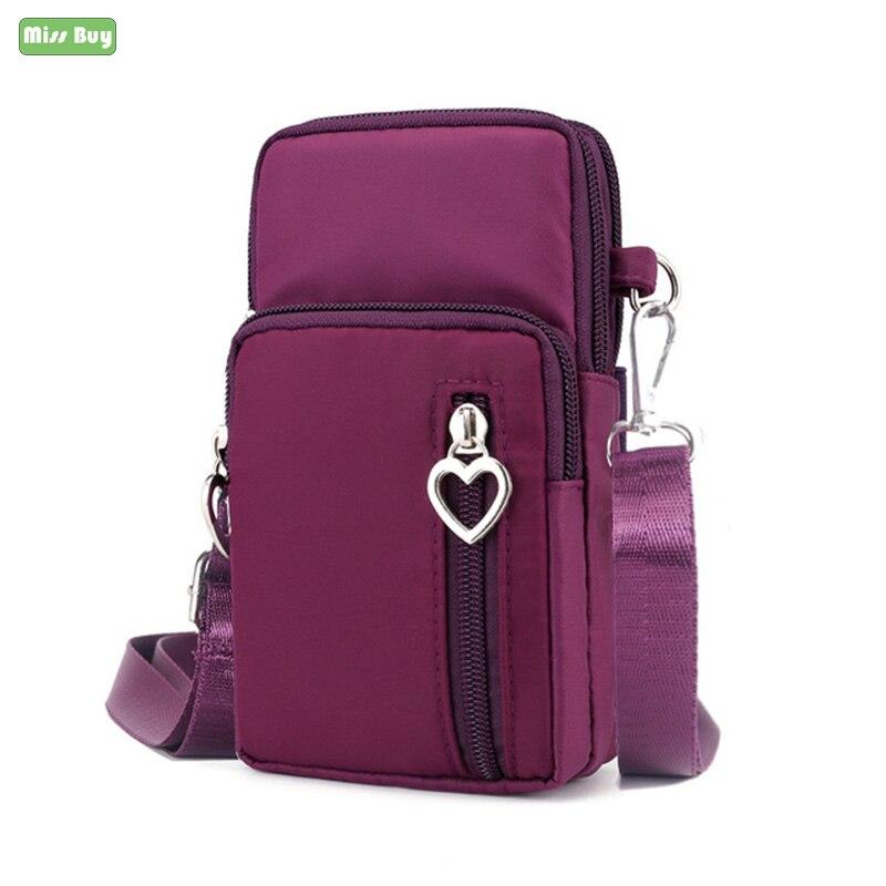 De la mano de la moda bolsa de teléfono para iPhone X XR XS 7 7 6 6s Plus Casual bolso de muñeca para iPhone 11 Pro Max señoras hombro bolsas pequeñas caso