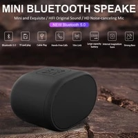tws wireless bluetooth 5 0 portable speaker bass stereo hd noise reduction microphone handsfree call with 1500mah battery