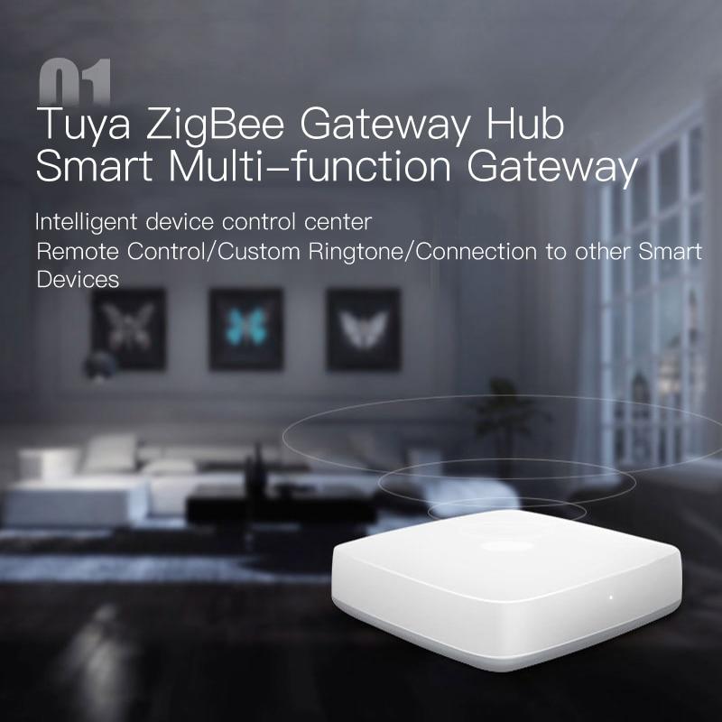 ZigBee passerelle hôte Tuya APP Center de contrôle de dispositif Intelligent 2.4Ghz toute la journée contrôle conjoint Intelligent