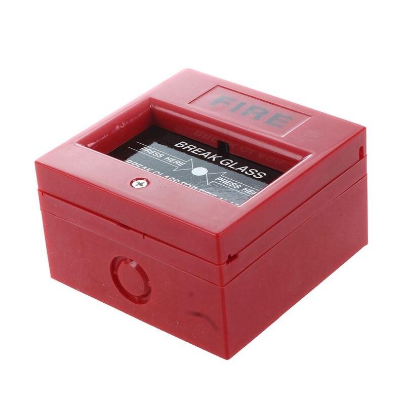 Ffyy-ac 250v/12v dc 12v reinicializável manual chamada ponto de alarme de incêndio estação de tração