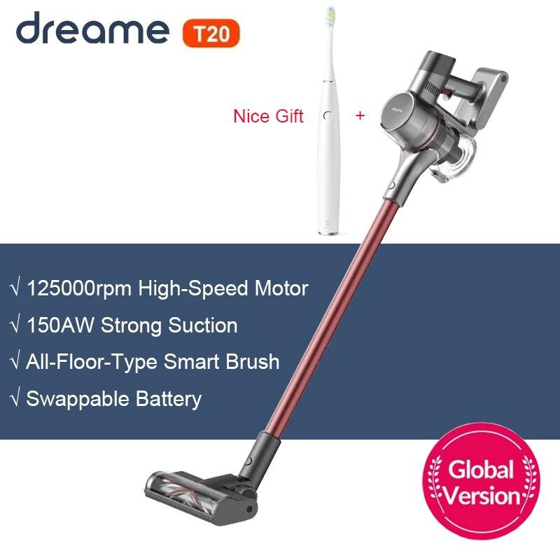 Dreame-T20 مكنسة كهربائية يدوية لاسلكية الكل في واحد ، مجمع الغبار ، شفط قوي 25 كيلو باسكال ، للأرضيات