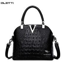 Large Capacity Women's Handbag Soft Leather Solid Color Retro Shoulder Bags for Women 2021 Ladies Lu