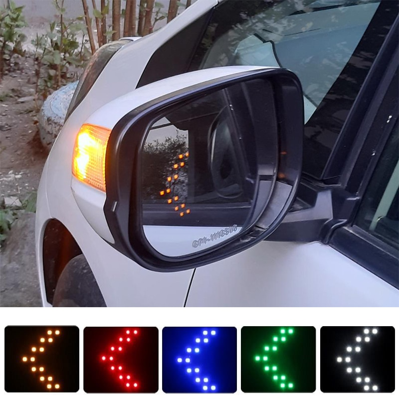 2pcs Arrow Panel LED Car Side Mirror Indicator Light For Mitsubishi Outlander 3 Lancer 10 9 Asx Pajero Sport L200 Carisma Colt