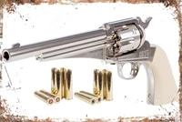 1875 co2 dual ammo replica revolver metal plaque painting tin sign