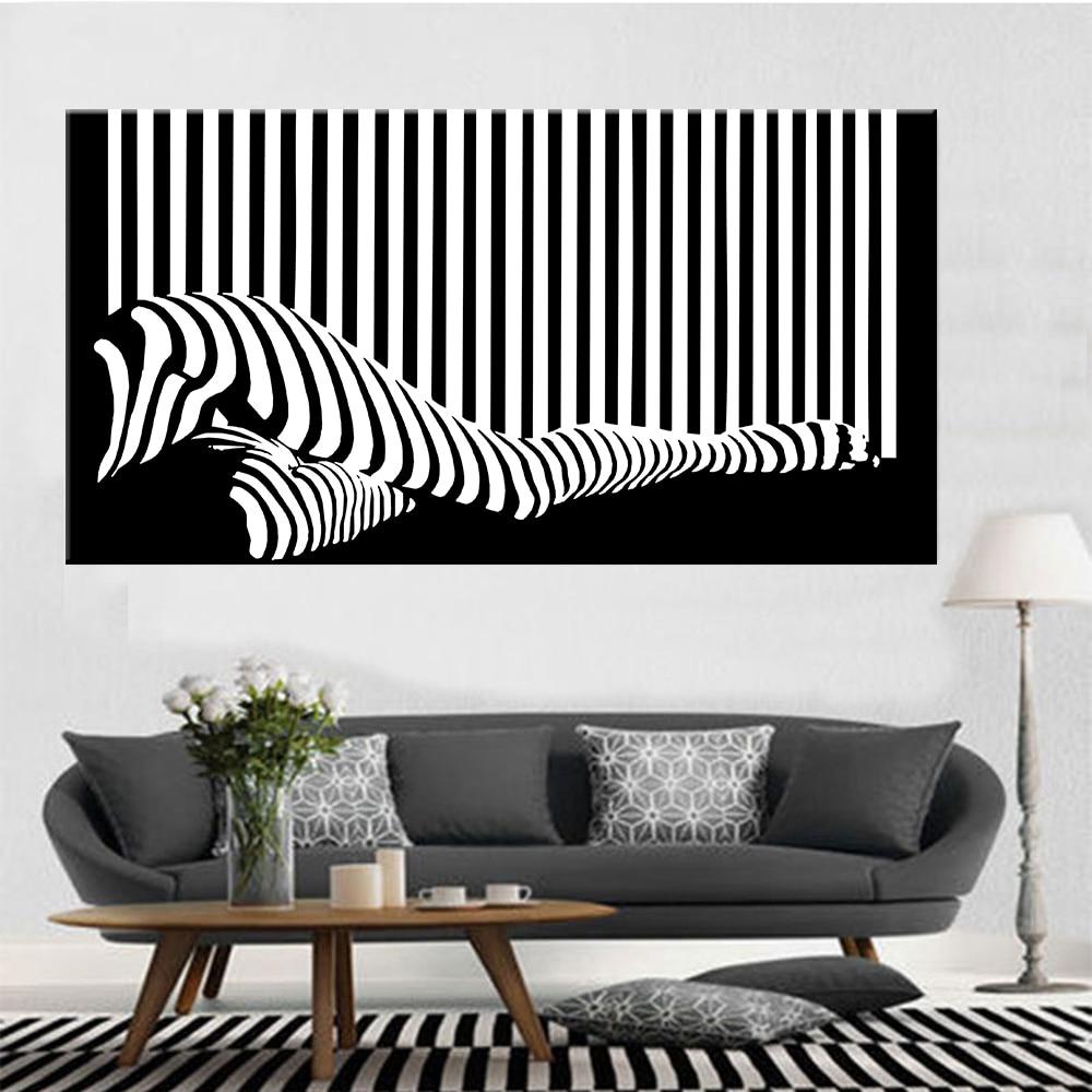 Pintura en lienzo de tira abstracta moderna para mujeres, arte de pared, sala de estar, sin marco, cuadro en lienzo, decoración del hogar, pintura para mujeres, carteles