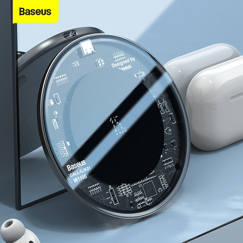 Baseus 15 واط تشى شاحن لاسلكي ل iPhone12 Mini 11 برو ماكس التعريفي سريع لاسلكي شحن الوسادة ل Airpods لسامسونج شاومي