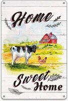 BellowDeer     panneaux en etain pour maison rustique  maison  ferme  animaux  metal  maison  exterieur  maison